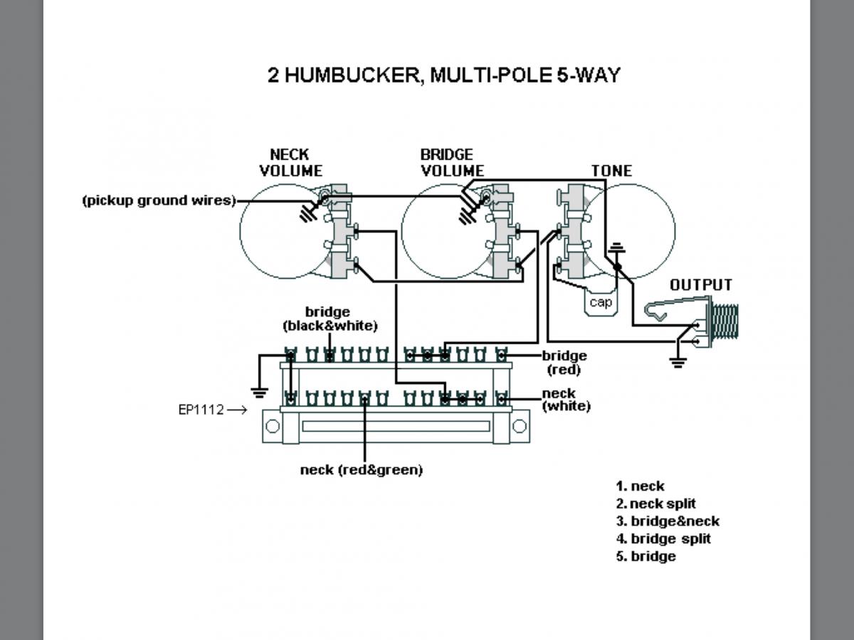 2 Humbucker Wiring Diagram Regular 5 Way Switch - Database