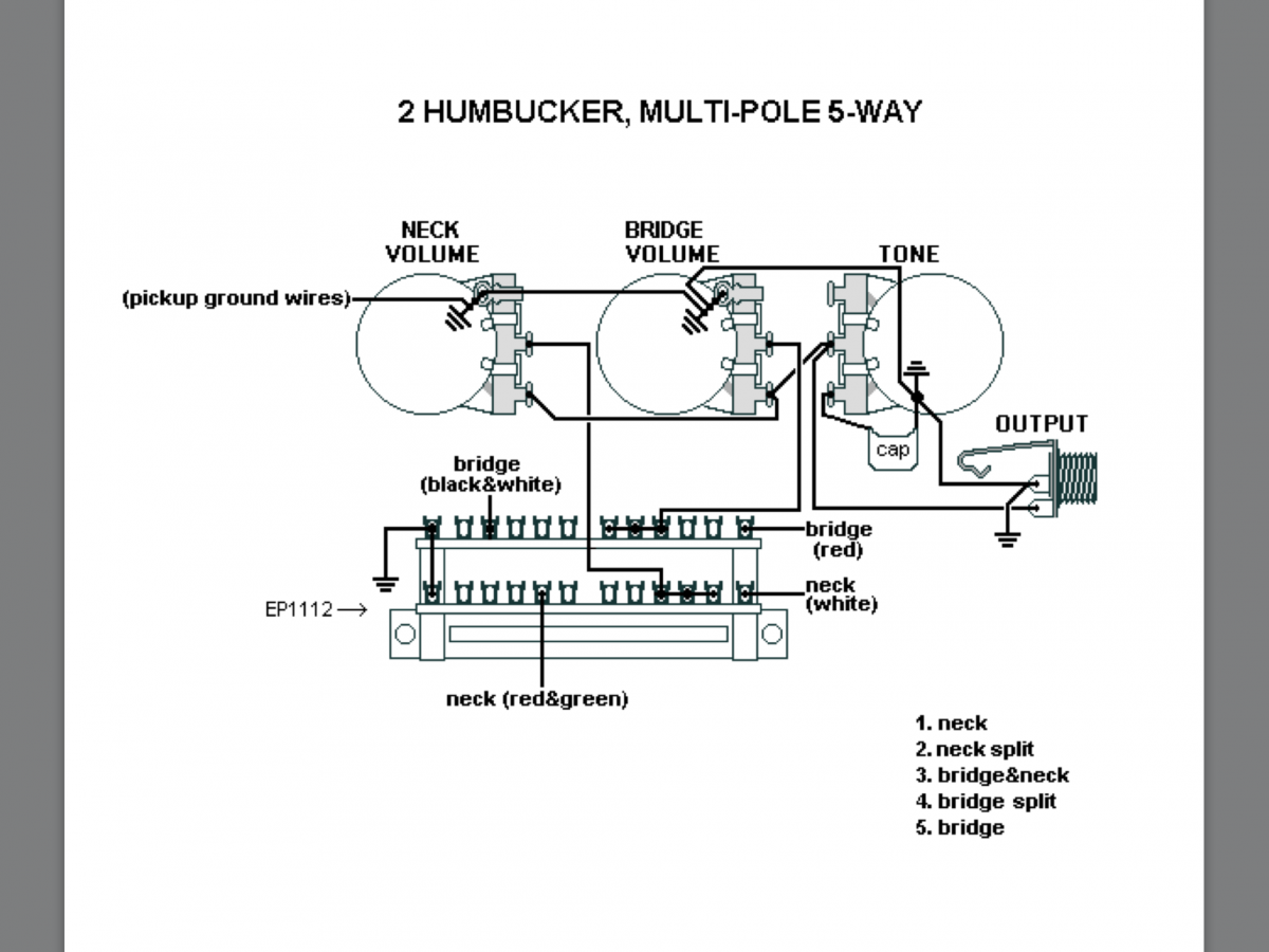 Help Found With Wiring 2 Humbuckers And 5 Way Multi The Canadian Guitar Forum